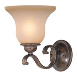 Vaxcel Monrovia Bathroom Sconce - 7W in. Royal Bronze - About Vaxcel LightingFor over 20 years, Vaxcel International has been a premier supplier of residential lighting products. Based in Carol Steam, Ill., Vaxcel's product line is composed of more than 2,000 items, ranging from builder-ready fixtures and ceiling fans to designer chandeliers and lamps, in the latest styles and finishes. They're known in the industry for offering a full selection of products at competitive prices.