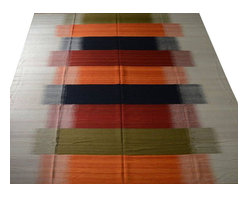 Durie Kilim Area Rug, Hand Woven 10'X15' Flat Weave 100% Wool Rug SH10524 - Soumaks & Kilims are prominent Flat Woven Rugs.  Flat Woven Rugs are made by weaving wool onto a foundation of cotton warps on the loom.  The unique trait about these thin rugs is that they're reversible.  Pillows and Blankets can be made from Soumas & Kilims.