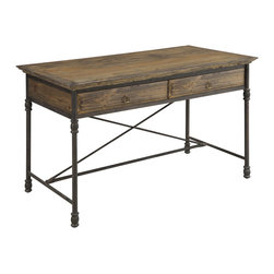 Christopher Knight Home - Christopher Knight Home Hylas Medium Brown Two-Drawer Desk - Enhance your rustic decor as you add functionality to a living space or bedroom study area with this brown pine desk. The simple accents make this an excellent piece for homework,computer research or other academic or office activities.