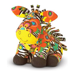 Melissa & Doug - Melissa and Doug Zelda Zebra Multicolor - 7150 - Shop for Plush Animals from Hayneedle.com! Melissa and Doug Zelda Zebra wears a cute smile and a bold flowery print over her sassy stripes. Part of the Beeposh stuffed animal series.About Melissa & Doug ToysSince 1988 Melissa & Doug have grown into a beloved children's product company. They're known for their quality educational toys and items and have grown in double digits annually. The Melissa & Doug company has been named Vendor of the Year by such great retailers as FAO Schwarz Toys R Us and Learning Express and their toys have been honored as Toys of the Year by Child Magazine FamilyFun Magazine and Parenting Magazine. Melissa & Doug - caring quality children's products.