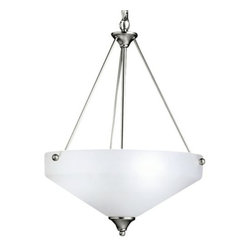 Kichler - Ansonia Bowl Pendant by Kichler - Less is more with the Kichler Ansonia Bowl Pendant. A casual piece, this pendant maintains its soft elegance in a satin etched glass shade and classic brushed nickel finish. Complement with other items from the Ansonia collection for a peaceful, calm living room or bedroom. Since 1938, Cleveland-based Kichler Lighting has created exceptional lighting in a variety of styles, finishes, colors and designs. With a diverse collection of indoor and outdoor lighting in classic and contemporary styles, Kichler Lighting always focuses on making home lighting that is both beautiful and functional.