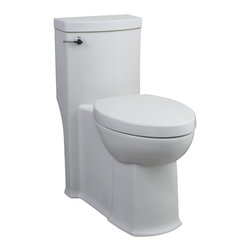 "American Standard - American Standard 2891.128.020 Boulevard FloWise Elongated Toilet, White - American Standard 2891.128.020 Boulevard FloWise Right Height Elongated One-Piece Toilet,  White. This high-efficency toilet features a 12"" Rough-in, an elongated siphon action bowl with smooth-sided, concealed trapway, an EverClean surface that inhibits the growth of bacteria, mold, and mildew, a PowerWash rim, a 16-1/2"" rim height, a fully-glazed 2"" trapway, an oversized 3"" flush valve, a design that meets EPA WaterSense criteria, an included Duroplast slow-close seat and cover, and 2 color-matched bolt hole covers. It features a FloWise 1.28 GPF flow rate."