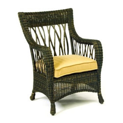 Woodard - Serengeti Dining Arm Chair (Honey Wheat Wicker) - Fabric: Honey Wheat Wicker. Wicker frame. Seat Height: 20 in. H. 28.8 in. W x 27 in. D x 37.8 in. H. All products are made to order. Orders cannot be cancelled after 5 calendar days. If order is cancelled after 5 calendar days, a 50% restocking fee will be applied.