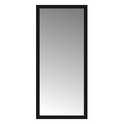 """Posters 2 Prints, LLC - 34"""" x 75"""" Soho Black Custom Framed Mirror - 34"""" x 75"""" Custom Framed Mirror made by Posters 2 Prints. Standard glass with unrivaled selection of crafted mirror frames.  Protected with category II safety backing to keep glass fragments together should the mirror be accidentally broken.  Safe arrival guaranteed.  Made in the United States of America"""