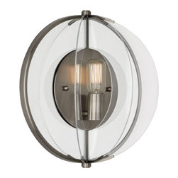 Robert Abbey Latitude W-wall Sconce, Nickel - Half Round Wall Sconce