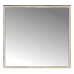 """Posters 2 Prints, LLC - 56"""" x 52"""" Libretto Antique Silver Custom Framed Mirror - 56"""" x 52"""" Custom Framed Mirror made by Posters 2 Prints. Standard glass with unrivaled selection of crafted mirror frames.  Protected with category II safety backing to keep glass fragments together should the mirror be accidentally broken.  Safe arrival guaranteed.  Made in the United States of America"""