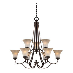 Quoizel Lighting - Quoizel ALZ5009PN Aliza Palladian Bronze 9 Light Chandelier - 9, 100W A19 Medium