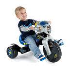 Fisher-Price - Fisher-Price Power Wheels Batman Big Wheel Riding Toy - W9981 - Shop for Tricycles and Riding Toys from Hayneedle.com! Give your mini super-hero his very own wheels with the Fisher-Price Power Wheels Batman Lights & Sounds Trike. The flashing lights and sounds create excitement anywhere he goes; the walkie-talkie plays back recorded messages from Batman himself. The wide base handlebar grips and slip-resistant pedals make this ride safe and easy to use.