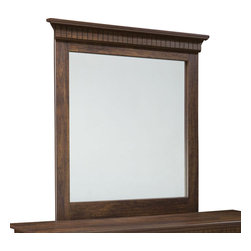 Standard Furniture - Standard Furniture Weatherly Rectangular Mirror in Cherry and Weathered Brown - Weatherly bedroom has warm appealing character with its textured two-tone finish and versatile transitional styling, plus it has the smart advantage of a space conscious footprint.