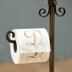 Monogrammed Bathroom Tissue - Wow! This bathroom tissue proves you can put a monogram on just about anything!