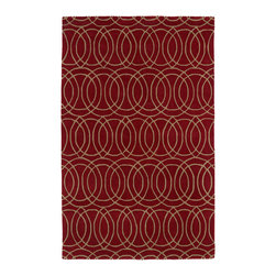 Kaleen - Kaleen Revolution Collection REV02-25 2' x 3' Red - The color Revolution is here! Trendy patterns with a fashion forward twist of the hottest color combinations in a rug collection today. Transform a room with the complete color makeover you were hoping for and leaving your friends jealous at the same time! Each rug is hand-tufted and hand-carved for added texture in India, with a 100% soft luxurious wool.