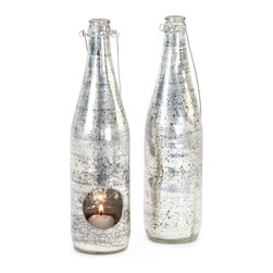 Set of Two Antique Silver Firefly Jar - The Set of Two Antique Silver Firefly Jar is flashy and modish and is perfect for both indoors and outdoors. It can make for a warm and snug cocoon in winters in your small dwelling.