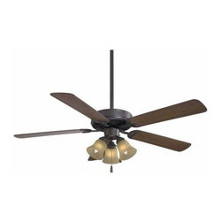 Minka Aire - Mink Aire Contractor 3-Light Unipack Ceiling Fan in Oil Rubbed Bronze - Minka Aire Contractor 3-Light Unipack Model F647-ORB/TS in Oil Rubbed Bronze with Medium Maple Finished Blades.