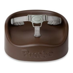 Bumbo - Bumbo Booster Seat in Brown - This softly made, contoured booster seat enables children to sit in an adult chair at the table. Ergonomically designed for optimum comfort and equipped with a 3-point harness and attachment straps that help keep your child safely in place.