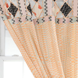 Mociun Urban Vine Curtain - I love the beautiful pattern in these curtains. They're strong and calming at the same time. I think they would be so pretty flanking some green table lamps!
