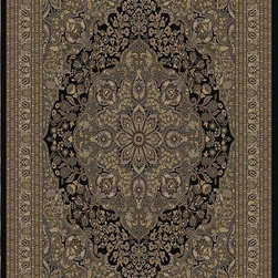 """Orian - Orian American Heirloom Fitzgerald (Onyx) 3'11"""" x 5'5"""" Rug - American Heirloom Collection, Orian Rugs' flagship collection is inspired by classic, hand-woven oriental rugs that combine understated elegance with classic style. The 1.5 million point design construction is densely woven with Orian's finest-denier yarns creating unparalleled visual dimension and pin point design clarity."""