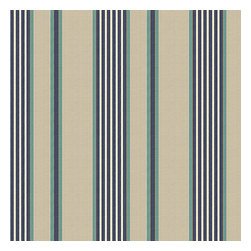 Gray, Blue & Teal Stripe Woven Fabric - Classic blue, white & teal stripe against tan ground with just a nod to the nautical.Recover your chair. Upholster a wall. Create a framed piece of art. Sew your own home accent. Whatever your decorating project, Loom's gorgeous, designer fabrics by the yard are up to the challenge!