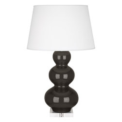 Robert Abbey - Triple Gourd Table Lamp, Coffee - -1-150W Max.