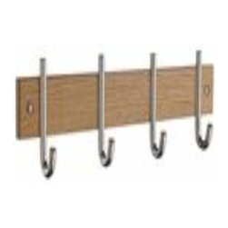 Smedbo - Smedbo Quad Coat Rack Oak/Polished Chrome - Smedbo Quad Coat Rack Oak/Polished Chrome