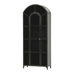 Four Hands - Belmont Metal Cabinet - Recalling the fabled mansions of a bygone era, this armoire will bring stately style to your favorite setting. The matte off-black finish adds to the dramatic vibe.