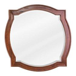 Hardware Resources - Philadelphia Classic Jeffrey Alexander Mirror 26 x 26 - 26 x 26 Chocolate brown mirror with beveled glass