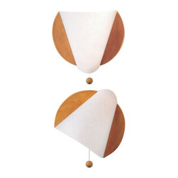 """Domus - Domus LUNE Wall Sconce - You need a light in your sleeping space, you will not want to have on your bedside table? The light LUNE is ideal solution for wall mounting: 360 degree roration and with a convenient on/ off switch. A functional lighting solution, not on in the bedroom.  Product Details You need a light in your sleeping space, you will not want to have on your bedside table? The light LUNE is ideal solution for wall mounting: 360 degree roration and with a convenient on/ off switch. A functional lighting solution, not on in the bedroom.                         Manufacturer            Domus                            Designer            DOMUS Team                            Made In            Germany                            Dimensions            Max Height:9 1/4""""(24cm)X Width:A:10 1/4""""(26cm) and B:6 1/4"""" (16cm)                            Light Bulbs            1 X 60W halogen                            Material            Wood and Lunopal"""