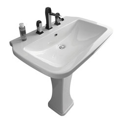 "WS Bath Collections - Nova Pedestal Sink in Ceramic White 29.5"" - Pedestal Sink"