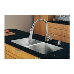 Vigo Industries - 32 in. Undercoated Kitchen Sink and Faucet Set - Give your kitchen a fresh new look with a VIGO All in One Kitchen Set.