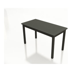 """Forever Patio - Barbados 72 in. Rectangular Pub Height Table, Ebony Wicker - Whether you are enjoying dinner or drinks, you will love hosting get-togethers out on your patio with the Forever Patio Barbados Modern Outdoor Wicker 72"""" Rectangular Pub Height Table (SKU FP-BAR-72PHT-EB). The UV-protected, ebony-colored resin wicker sports a flat woven design, creating a contemporary look with clean lines that surpasses the quality of natural rattan. A tempered glass table top is included with this table, adding an extra touch of modern style to your wicker outdoor dining table."""
