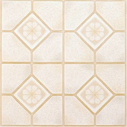"NATIONAL BRAND ALTERNATIVE - Floor Tile No Wax Self Stick 12"" x 12"" Almond/Sand - Features:"