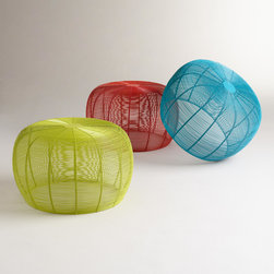 Lola Wired Stool - These can be used as tables or seats. They're definitely kid-proof and they come in fun colors.