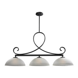 Z-Lite - Z-Lite 603-3 Arshe 3 Light Chandelier - The unique cafe bronze fixture uses weaving circular designs to create a one of a kind, modern look. White watermark shades compliment this three light fixture, and help to create a totally unique statement in contemporary lighting, perfect for any modern space. Telescoping rods are included to ensure the perfect hanging height. Features: