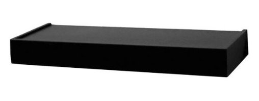 KNAPE & VOGT MFG - SHELF DECOR FLOATING BLACK - Hidden mounting bracket, the shelf appears unsupported on walls. Hidden mounting hardware included.            H x L x D In=2-3/4 x 24 x 8-1/2Finish=Black  This item cannot be shipped to APO/FPO addresses.  Please accept our apologies