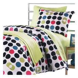 Idea Nuova Inc - Division Dots 14pc Full-Double Dorm Bedding Collection - FEATURES: