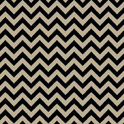 Ottomanson - Black, Beige Contemporary Striped Design Area Rug - Chevrons are a designer favorite and this black and beige abstract area rug will be your favorite too. Durable enough for high traffic areas, it resists stains and cleans easily so you never need to worry about what anyone drags in. Including your cat.