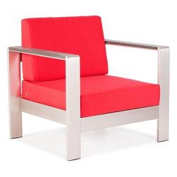 ZUO Modern - Cosmopolitan Armchair Cushions in Red - 701843 - Cosmopolitan Collection Armchair