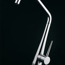 MaestroBath - High End Kitchen Faucet in Brushed Nickel with Pull Out Sprayer - This modern single handle kitchen faucet with its added pull out sprayer functionality is as beautiful as it is functional. The high end Italian faucet can accommodate any type of kitchen sink. The contemporary faucet is easy to install, keep clean and maintain. Modern brushed nickel faucet is also available in chrome finish. Whether your decorating style is traditional or modern, Maestrobath products will compliment your home improvement project and add a lavish, luxurious feel while protecting your health, safety and the environment.