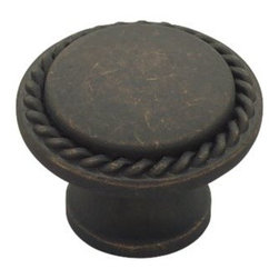 Liberty Hardware - Liberty Hardware PN0293-OB-C Contempo II Cab HW-Liberty 1.18 Inch Round Knob - Use the Liberty 1-3/16 in. Distressed Oil-Rubbed Bronze Rope Edge Cabinet Knob to enhance the appearance of your indoor living space. The striking finish helps provide a stylish and easy update for your kitchen decor. Width - 1.18 Inch, Height - 1.18 Inch, Projection - 0.91 Inch, Finish - Distressed Oil Rubbed Bronze, Weight - 0.11 Lbs.