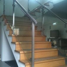 Modern Staircase by AP Metal Designs