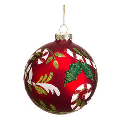 Silk Plants Direct - Silk Plants Direct Glittered Candy Cane Pattern Glass Ball Ornament (Pack of 12) - Pack of 12. Silk Plants Direct specializes in manufacturing, design and supply of the most life-like, premium quality artificial plants, trees, flowers, arrangements, topiaries and containers for home, office and commercial use. Our Glittered Candy Cane Pattern Glass Ball Ornament includes the following: