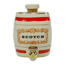 Lavish Shoestring - Consigned Scotch Barrel Decanter by Royal Victoria Wade, Vintage English - This is a vintage one-of-a-kind item.