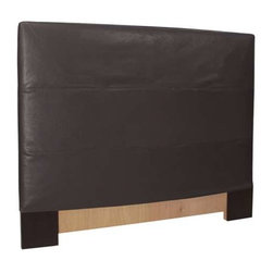 Howard Elliott Black Faux Leather Twin Slipcovered Headboard - The Slip covered Headboard is constructed with a sturdy wood frame that is padded for maximum comfort, making it solid yet cozy. This piece features a black faux leather cover.