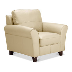 Byron Arm Chair Beige Leather