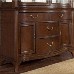 American Drew - American Drew Cherry Grove New Generation China Buffet Multicolor - 091-830 - Shop for Buffets and Side Boards from Hayneedle.com! The American Drew Cherry Grove New Generation China Buffet is a unique piece of accent furniture that has a combination of different materials to help bring casual elegance to your home. The wood has a rich cherry cathedral veneers over alder solids and select hardwood. This elegant buffet can be used to display and store a multitude of items.About American DrewFounded in 1927 American Drew is a well-established leading manufacturer of medium- to upper-medium-priced bedroom dining room and occasional furniture. American Drew's product collections cover a broad variety of style categories including traditional transitional and contemporary. Their collections range from the legendary 18th-century traditional Cherry Grove celebrating its 42nd year of success to the extremely popular Bob Mackie Home Collection influenced by the world-renowned fashion designer Bob Mackie. Jessica McClintock Home features another beloved designer bringing unique style to an American Drew line. American Drew's headquarters are located in Greensboro N.C. Their products are distributed through thousands of independently owned retailers throughout the United States and Canada and around the world.