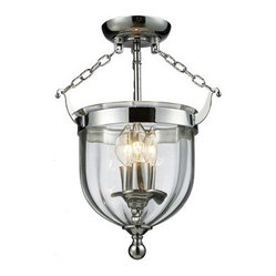 Z-Lite 3-Light Warwick Semi-Flush Ceiling Light