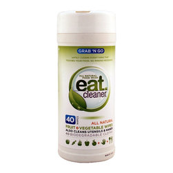 EAT Cleaner - EAT Cleaner Produce Wipes Canisters for Fruit & Vegetables - Keep a supply of Eat Cleaner Produce Wipes at the ready, and you can be sure that your family is only getting good things when they eat their fruits and veggies. The wipes dissolve dirt, kill bacteria and banish pesticides and other chemicals.