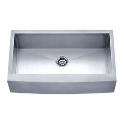 "Dowell - Dowell 30"" x 20"" Undermount Handcrafted Single Bowl Sink - 18/16 Gauge, 304 Series Stainless Steel"
