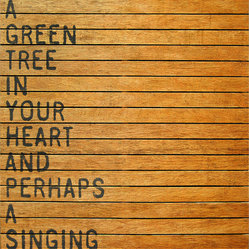Keep A Green Tree Slatted Wood Distressed Wall Art