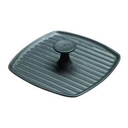 Le Creuset - Le Creuset Enameled Cast Iron Panini Grill Press, Black - If you're hungry for panini, start with the proper press. This ribbed, weighted cast iron piece makes gorgeous grilled sandwiches, while the heat-resistant phenolic knob keeps it safe and easy.