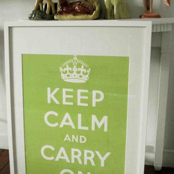 Keep Calm And Carry on Poster Chartreuse Green by sfgirlbybay - Personally, I think it's Miss Victoria who made this poster so very popular, via her blog, sfgirlbybay. Spread the message during all tough times; I find this charteuse very calming.